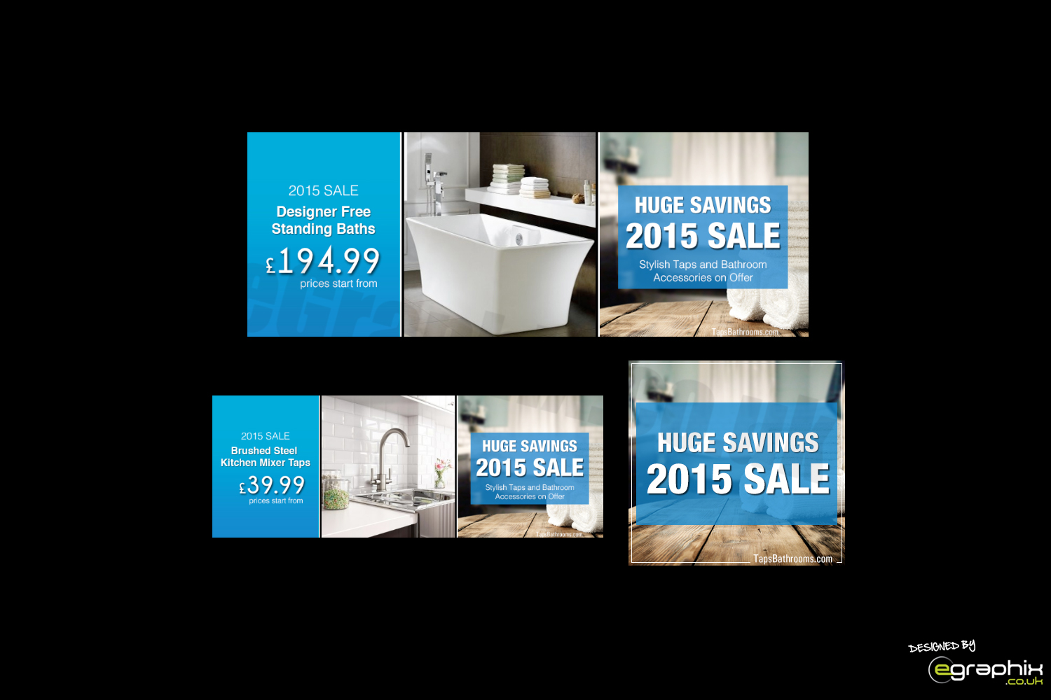 Banners Designed for TapsBathrooms.com